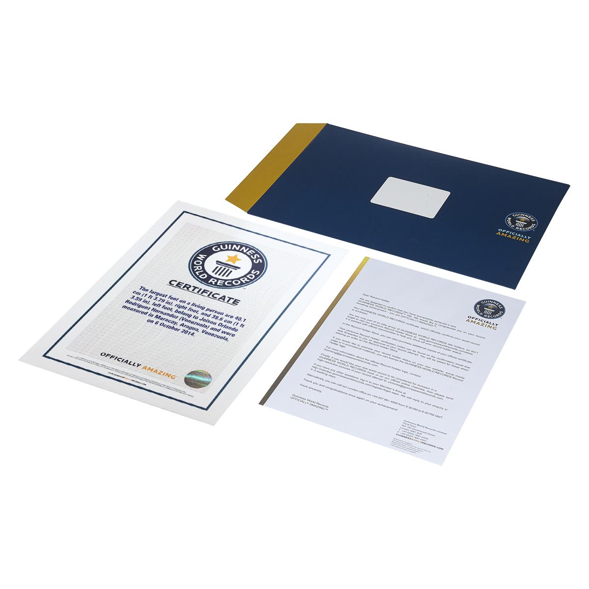 The Guinness World Records Store Certificates Mandegarfo