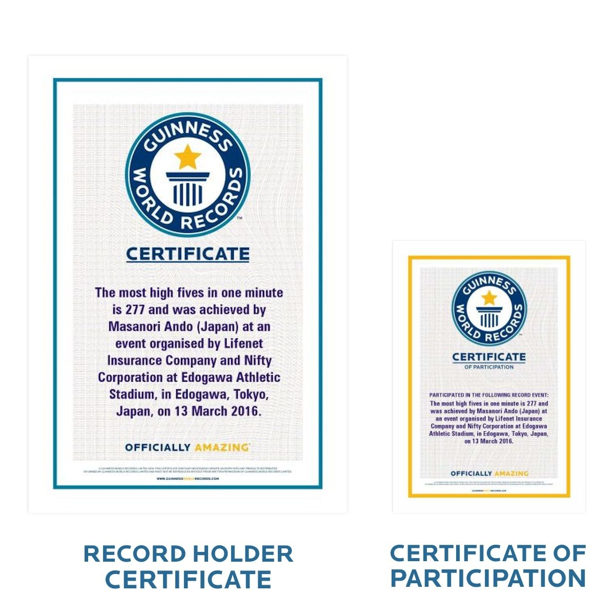 The guinness world records store certificates for World record certificate template